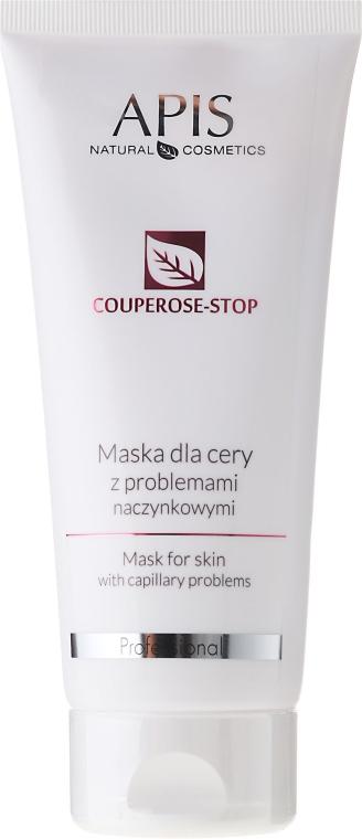 Arcmaszk problémás bőrre, kapilláris hálóval - APIS Professional Couperose-Stop Mask