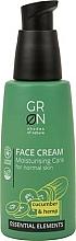 Parfüm, Parfüméria, kozmetikum Arckrém - GRN Essential Elements Cucumber & Hemp Face Cream