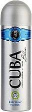 Parfüm, Parfüméria, kozmetikum Cuba Blue - Testápoló spray