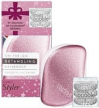 Parfüm, Parfüméria, kozmetikum Készlet - Tangle Teezer Compact Styler Let It Snow Set (brush/1szt + hair/tie/3szt)