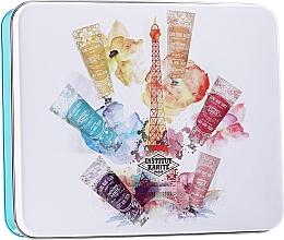 Parfüm, Parfüméria, kozmetikum Készlet - Institut Karite A Day In Paris Tin Box (h/cr/30ml + soap/100g + b/oil/10ml + ash/balm/30ml + box)