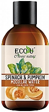 "Parfüm, Parfüméria, kozmetikum Micellás víz ""Tök és spenót"" - Eco U Pumpkins And Spinach Micellar Water"