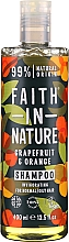 """Parfüm, Parfüméria, kozmetikum Sampon normál és zsíros hajra """"Grapefruit és narancs"""" - Faith In Nature Grapefruit & Orange Shampoo"""