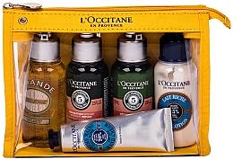 Parfüm, Parfüméria, kozmetikum Szett - L'Occitane Best Of Provence (oil/75ml + sh/75ml + cond/75ml + lot/75ml + h/cr/30ml + bag)