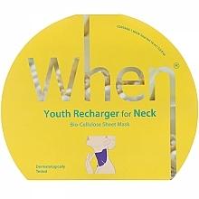 Parfüm, Parfüméria, kozmetikum Biocellulóz öregedésgátló maszk nyakkörnyékre - When Youth Recharger For Neck Bio-Cellulose Mask