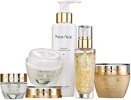 Parfüm, Parfüméria, kozmetikum Készlet - Oriflame NovAge Time Restore (f/gel/150ml+eye/cr/15ml+ser/30ml+d/cr/50ml+n/cr/50ml)