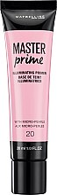 Parfüm, Parfüméria, kozmetikum Alapozó bázis (Primer) - Maybelline Master Prime 20 Illuminating