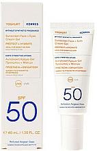 Parfüm, Parfüméria, kozmetikum Napvédő krm-gél arcra és szemkörnyékre - Korres Yoghurt Sunscreen Face & Eyes Cream Gel SPF50