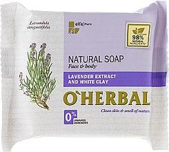 Parfüm, Parfüméria, kozmetikum Természetes szappan levendula kivonattal és fehér agyaggal - O'Herbal Natural Soap