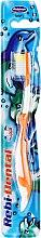 Parfüm, Parfüméria, kozmetikum Gyermek fogkefe Rebi-Dental M16, lágy, narancssárga-fehér - Mattes