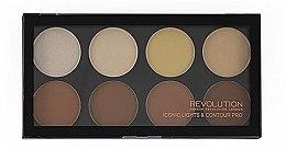 Parfüm, Parfüméria, kozmetikum Pirosító paletta, 8 érnyalat - Makeup Revolution Iconic Lights & Contour Pro