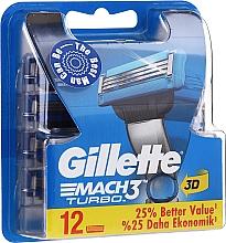 Parfüm, Parfüméria, kozmetikum Eldobható borotva fej, 12 db. - Gillette Mach3 Turbo