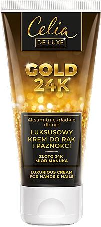 Fényűző kézkrém - Celia De Luxe Gold 24K Luxurious Hand & Nail Cream