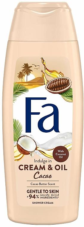 "Tusoló krém-gél ""Kakaó és kókusz olaj"" - Fa Cacao Butter And Coco Oil"