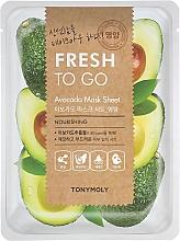 Parfüm, Parfüméria, kozmetikum Szövetmaszk avokádó kivonattal - Tony Moly Fresh To Go Avocado Mask Sheet Nourishing