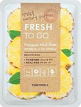 Parfüm, Parfüméria, kozmetikum Ananász frissítő szövetmaszk - Tony Moly Fresh To Go Mask Sheet Pineapple
