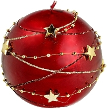 "Parfüm, Parfüméria, kozmetikum Dekoratív gyertya ""Karácsonyi gömb"", 8cm, piros - Artman Garland Decorative Christmas Medium Ball Candle Dark Red"