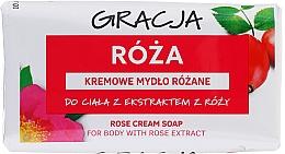 Parfüm, Parfüméria, kozmetikum Szappan rózsa kivonattal - Gracja Rose Cream Soap With Rose Extract