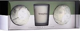 Parfüm, Parfüméria, kozmetikum Szett - AromaWorks Light Range Lemongrass & Bergamot & Mini Aromabomb Gift Set (candle/10ml+2xbomb/175g)