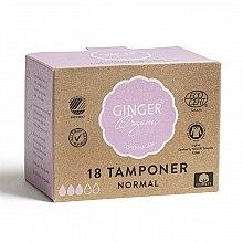 "Parfüm, Parfüméria, kozmetikum Tampon applikátor nélkül ""Normál"", 18 db - Ginger Organic"