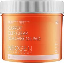 Parfüm, Parfüméria, kozmetikum Tisztító hidrofill korongok sárgarépa olajjal - Neogen Dermalogy Carrot Deep Clear Remover Oil Pad