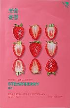 "Parfüm, Parfüméria, kozmetikum Szövetmaszk ""Eper"" - Holika Holika Pure Essence Mask Strawberry"