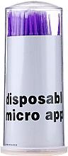 Parfüm, Parfüméria, kozmetikum Apró szempilla ecset, lila fehér sörtével - Novalia Group