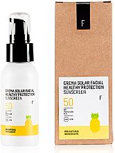 Parfüm, Parfüméria, kozmetikum Napvédő krém arcra SPF 50 - Freshly Cosmetics Healthy Protection Facial Sun Cream