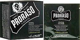 Parfüm, Parfüméria, kozmetikum Frissítő kendő arcra és szakállra - Proraso Cypress & Vetyver Refreshing Tissues
