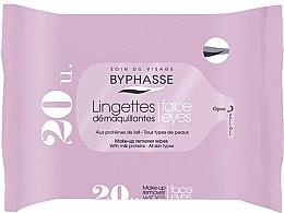 Parfüm, Parfüméria, kozmetikum Sminkeltávolító törlőkendő, 20 db - Byphasse Make-up Remover Milk Proteins All Skin Wipes