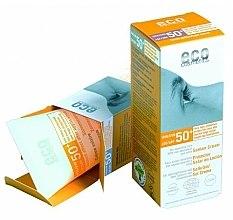 Parfüm, Parfüméria, kozmetikum Napvédő krém SPF 50+ gránátalma és homoktövis kivonattal - Eco Cosmetics Suntan Cream SPF 50+