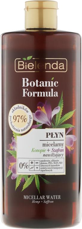 Micellás víz - Bielenda Botanic Formula Hemp Oil + Saffron Moisturizing Micellar Water
