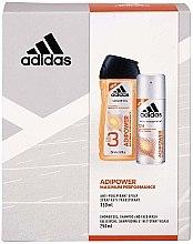 Parfüm, Parfüméria, kozmetikum Készlet - Adidas Adipower Men (sh/gel/250ml + deo/spray/150ml)