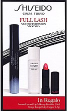 Parfüm, Parfüméria, kozmetikum Készlet - Shiseido Full Lash Multi-Dimension Mascara (mascara/8ml + lipstick/2,5g + remover/30ml)