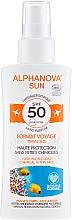 Parfüm, Parfüméria, kozmetikum Napvédő spray - Alphanova Sun Bio SPF50 Spray Voyage