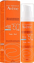 Parfüm, Parfüméria, kozmetikum Napvédő folyadék arcra - Avene Eau Thermale Sun Care Fluid SPF50