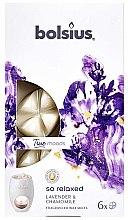 """Parfüm, Parfüméria, kozmetikum Illatosított viasz """"Levendula és kamilla"""" - Bolsius True Moods So Relaxed Lavender & Chamomile"""