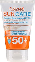 Parfüm, Parfüméria, kozmetikum Védő tonizáló krém SPF 50+ - Floslek Sun Protection Tinder Cream SPF50+