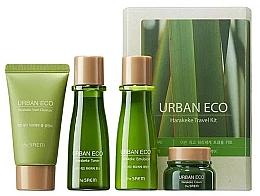 Parfüm, Parfüméria, kozmetikum Utazó ápolókészlet új-zélandi len kivonattal - The Saem Urban Eco Harakeke Travel 4 Kit (foam/25ml+ton/31ml+emul/31ml+cr/8ml)
