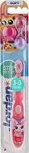 Parfüm, Parfüméria, kozmetikum Gyermek fogkefe Step 2 (3-5) lágy, rózsaszín zsíráffal - Jordan