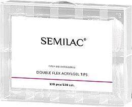 Parfüm, Parfüméria, kozmetikum Műköröm tipp körömépítéshez - Semilac Double Flex Acrylgel Dual Tips
