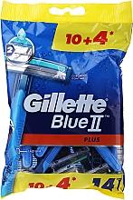 Parfüm, Parfüméria, kozmetikum Eldobható borotva, 10+4db - Gillette Blue II Plus