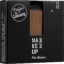 Parfüm, Parfüméria, kozmetikum Matt pirosító - Make Up Factory Mat Blusher