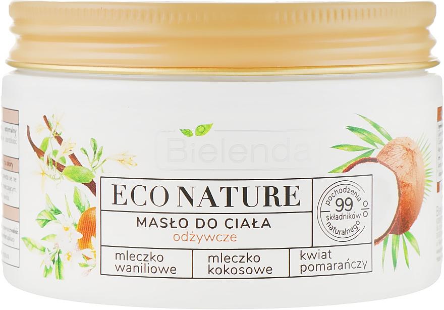Tápláló testej - Bielenda Eco Nature Body Butter Vanilla Coconut Milk Orange Blossom