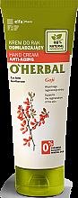 Parfüm, Parfüméria, kozmetikum Fiatalító kézkrém goji bogyó kivonattal - O'Herbal Rejuvenating Hand Cream With Goji Berry Extract