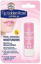 Parfüm, Parfüméria, kozmetikum Ajakápoló balzsam - Golden Rose Lip Balm Pearl Shimmer & Moisturizers SPF15