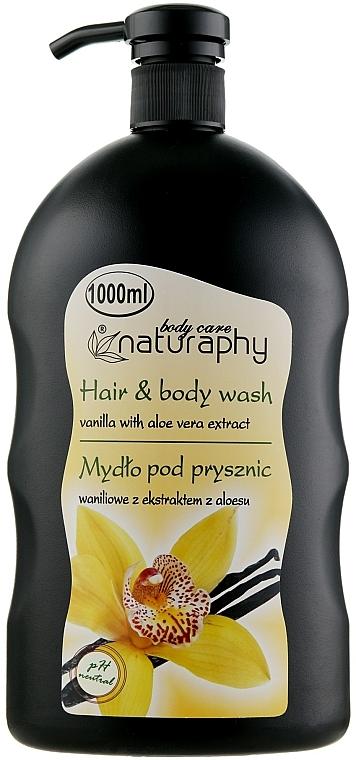 "Sampon-tusfürdő ""Vanília és aloe vera"" - Bluxcosmetics Naturaphy Hair & Body Wash"