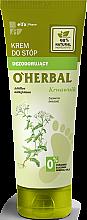 Parfüm, Parfüméria, kozmetikum Dezodoráló lábkrém cickafark kivonattal - O'Herbal Deodorizing Foot Cream With Yarrow Extract