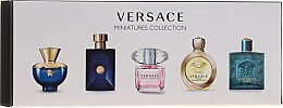 Parfüm, Parfüméria, kozmetikum Versace Miniatures Collections - Szett (edt/4x5ml + edp/1x5ml)
