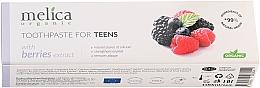 "Parfüm, Parfüméria, kozmetikum Fogkrém kamaszoknak ""Bogyós mix"", 6-14 éves korig - Melica Organic Toothpaste For Teens With Berries Extract"